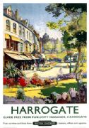 Harrogate, North Yorkshire Vintage British Railways Travel Poster Print.